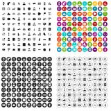100 assistant icons set vector variant. 100 assistant icons set vector in 4 variant for any web design isolated on white Royalty Free Stock Photos