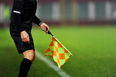 Assistant referee in action Royalty Free Stock Images