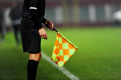 Assistant referee in action Royalty Free Stock Photo