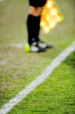 Assistant referee on sideline Stock Photos