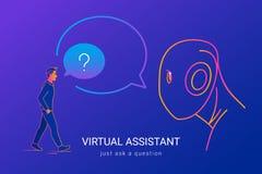 Assistant virtuel et reconnaissance vocale Photos libres de droits
