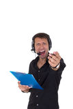 Assistant yelling Royalty Free Stock Images