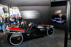 Assisted driving concept car by Mitsubishi on exhibition Cebit 2017 in Hannover Messe, Germany Royalty Free Stock Photo