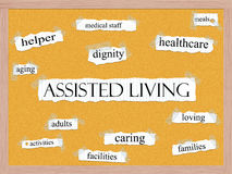 Assisted Living Corkboard Word Concept vector illustration