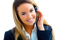 Assistent auf Kundenkontaktcenter lizenzfreies stockbild