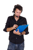 Assistent director checking form Royalty Free Stock Photo