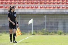 Assistente arbitro femminile Immagine Stock