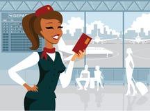 Assistente di volo Immagini Stock Libere da Diritti