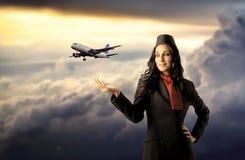 Assistente di volo fotografia stock libera da diritti