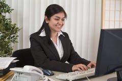 Assistente feliz imagens de stock