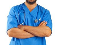 Assistente médico com estetoscópio imagem de stock