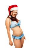 Assistente seducente di Santa Immagini Stock
