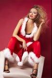 Assistente sexy di Santa Fotografia Stock