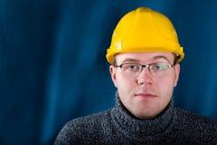 Assistente tecnico in casco giallo Fotografia Stock Libera da Diritti