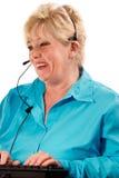 Assistente tecnico della donna matura Fotografia Stock