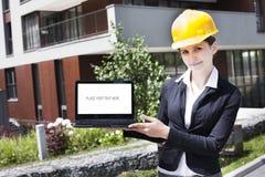 Assistente tecnico di costruzione femminile Immagine Stock Libera da Diritti