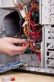 Assistente tecnico di sostegno di calcolatore immagine stock libera da diritti