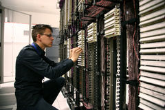 Assistente tecnico di telecomunicazioni Fotografia Stock Libera da Diritti