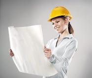 Assistente tecnico femminile Fotografie Stock Libere da Diritti