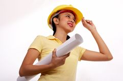 Assistente tecnico femminile Immagine Stock Libera da Diritti