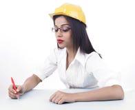 Assistente tecnico femminile asiatico fotografia stock