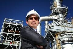 Assistente tecnico industriale sicuro Fotografie Stock Libere da Diritti
