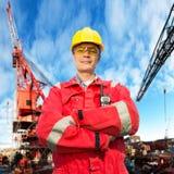 Assistente tecnico in mare aperto Fotografia Stock Libera da Diritti
