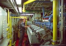 Assistente tecnico marino Fotografie Stock Libere da Diritti