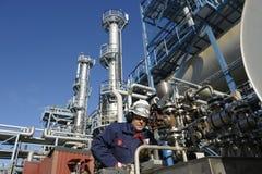 Assistente tecnico, petrolio, combustibile e gas immagini stock