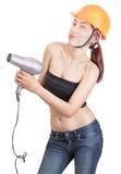 Assistente tecnico sexy ribelle Fotografia Stock