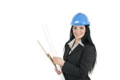 Assistente tecnico sorridente della donna immagini stock libere da diritti