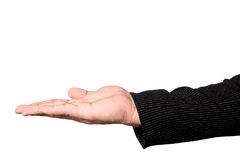 Assistenten för affärsman` s gömma i handflatan upp med den snabba banan Arkivbild
