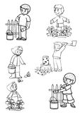 Assistentes ilustração royalty free
