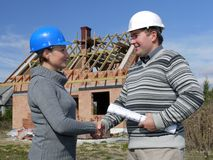 assistenti tecnici di costruzione Fotografia Stock Libera da Diritti