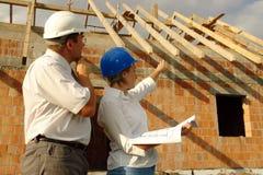 Assistenti tecnici di costruzione Fotografie Stock Libere da Diritti