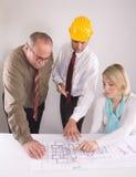 Assistenti tecnici di costruzione Immagini Stock Libere da Diritti