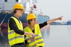 Assistenti tecnici industriali Immagine Stock Libera da Diritti