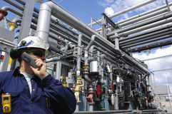 Assistenti tecnici petrolio, gas e potenza Fotografia Stock