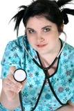 assistentläkarundersökning arkivfoto