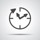 24 assistenze di ora, icona dell'orologio royalty illustrazione gratis