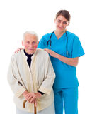 Assisting the elderly Royalty Free Stock Photography
