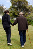 Assisting and helping elderly people Royalty Free Stock Images