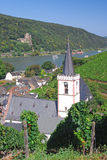 Assmannshausen,River Rhine,Germany Stock Image