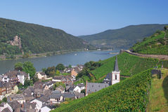 Assmannshausen,River Rhine,Germany Royalty Free Stock Photo