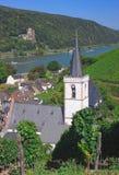 Assmannshausen, vallée du Rhin photo stock