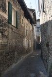 Asso Como, Italy, typical old street Stock Photos