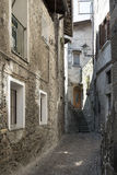 Asso Como, Italy, typical old street Royalty Free Stock Images