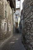 Asso Como, Italy, typical old street Stock Image
