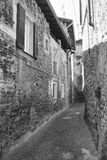 Asso Como, Italy, typical old street Stock Images