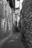 Asso Como, Italy, typical old street Royalty Free Stock Photo